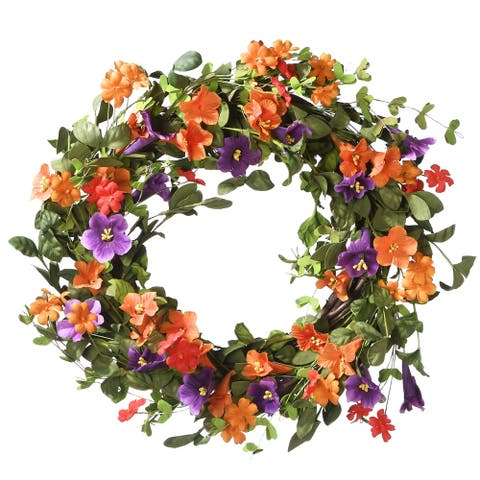 "22"" Morning Glory Wreath"