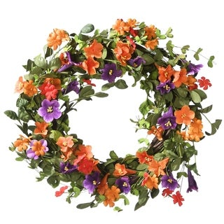 "22"" Morning Glory Wreath"