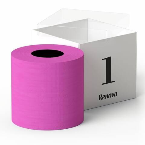 Renova Scented Colored Toilet Paper Gift Box 1 Roll 3-Ply Bath Tissue - Gift Box 1 Roll