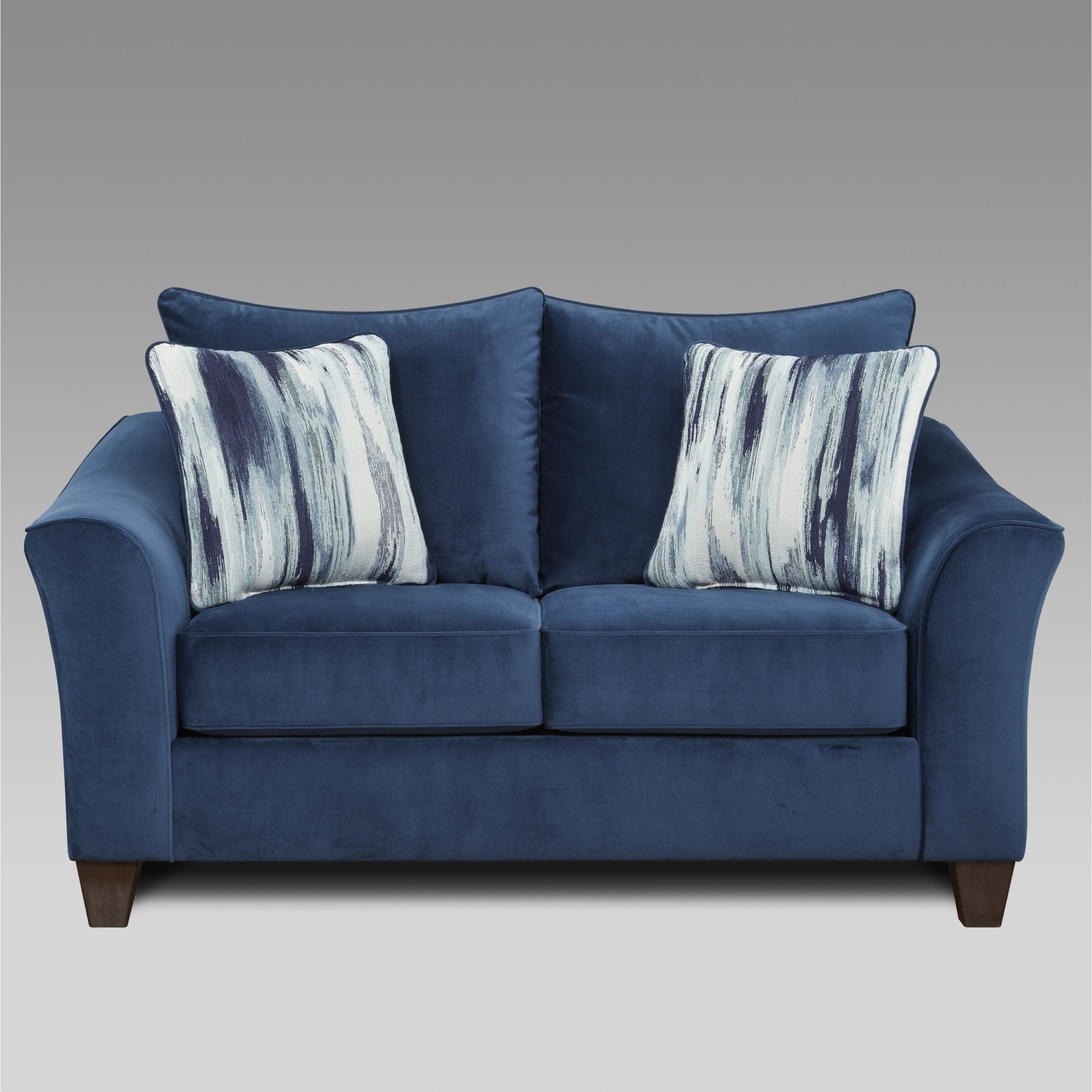 Picture of: Camero Fabric Pillowback Loveseat In Navy Blue Overstock 30689278