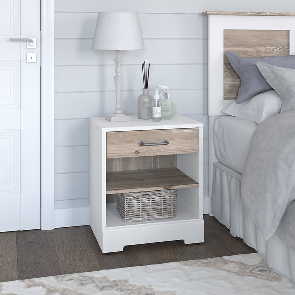River Brook Nightstand From Kathy Ireland Home By Bush Furniture On Sale Overstock 30689284