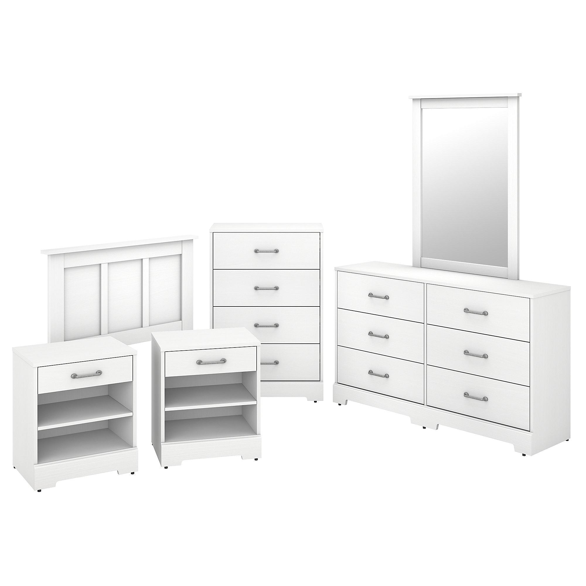 Bush Furniture Kathy Ireland Home River Brook 6 Piece Twin Size Bedroom Set Bedroom Sets Home Kitchen Sailingschool Pl