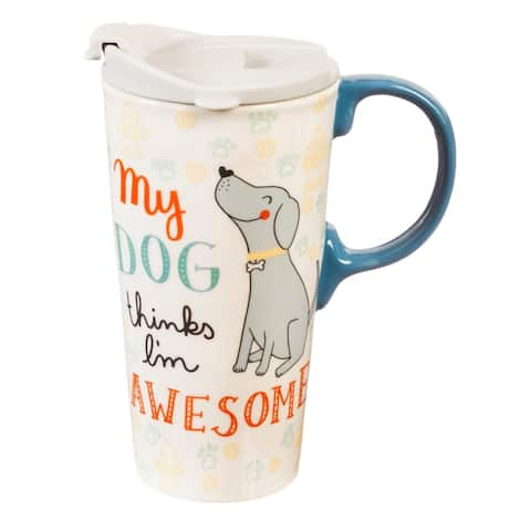 My Dog 17 fl. oz. Ceramic Travel Cup with Matching Gift Box