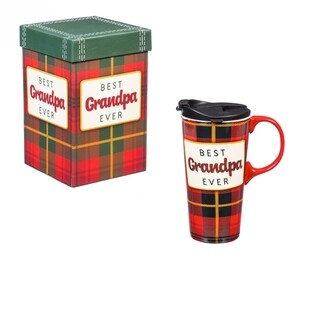 Link to Best Grandpa Ever 17 fl. oz. Ceramic Travel Cup with Matching Gift Box Similar Items in Glasses & Barware