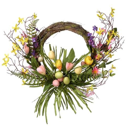 "20"" Easter Eggs Wreath"