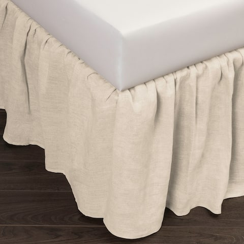 Cottage Home Sillo Ivory Linen 3 Piece Bed skirt