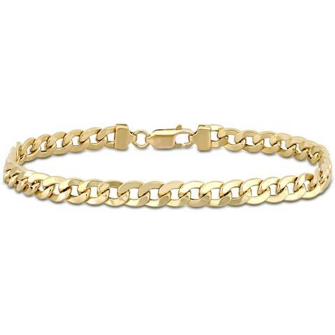 Miadora 18k Yellow Gold Flat Curb Link Bracelet