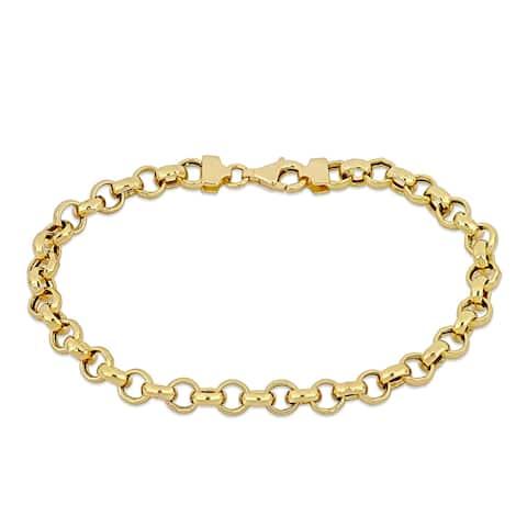 Miadora 18k Yellow Gold Rolo Link Bracelet