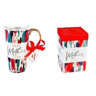 Link to Best Mother Ever 17 fl. oz. Ceramic Travel Cup w/ Tritan Lid and Matching Gift Box Similar Items in Glasses & Barware