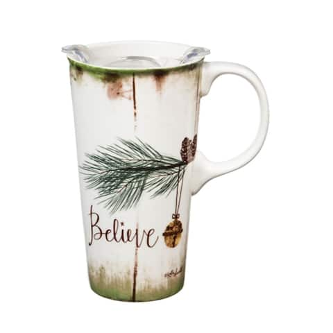 Believe 17 fl. oz. Ceramic Travel Cup w/ Tritan Lid and Matching Gift Box