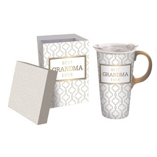 Link to Best Grandma Ever 17 fl. oz. Ceramic Travel Cup w/ Tritan Lid, Mini Ornament, and Matching Gift Box Similar Items in Glasses & Barware