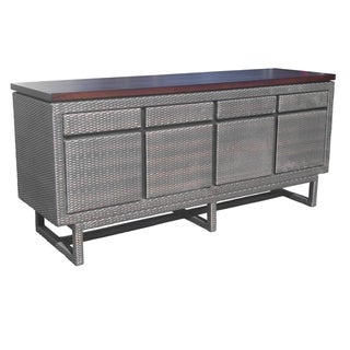 Sunstand Wooded Top  4Drw 4Dr Buffet Cabinet