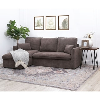 Copper Grove Carty Brown Storage Sectional