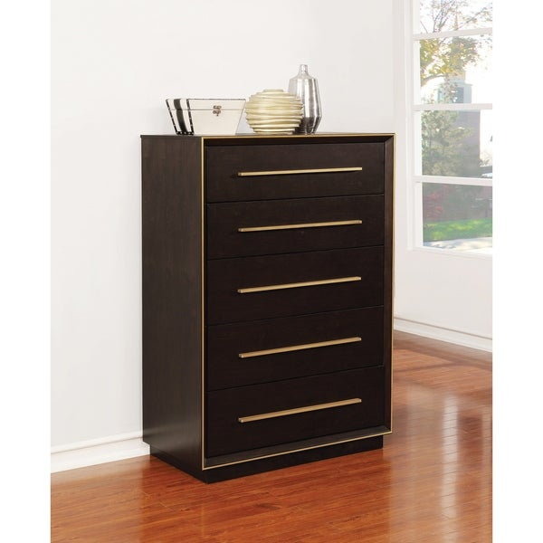 Drea Smoked Peppercorn 5-drawer Chest