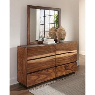 Mallory Smokey Walnut and Coffee Bean 6-drawer Dresser