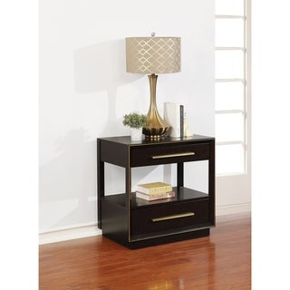 Drea Smoked Peppercorn 2-drawer Nightstand