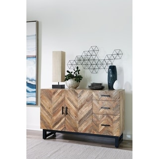 Link to Lynch Natural Mango and Matte Black 3-drawer Server Similar Items in Dining Room & Bar Furniture