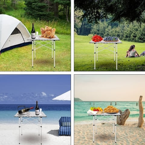 """27.5"""" Outdoor Square Camping Table - 70*70*70cm"""