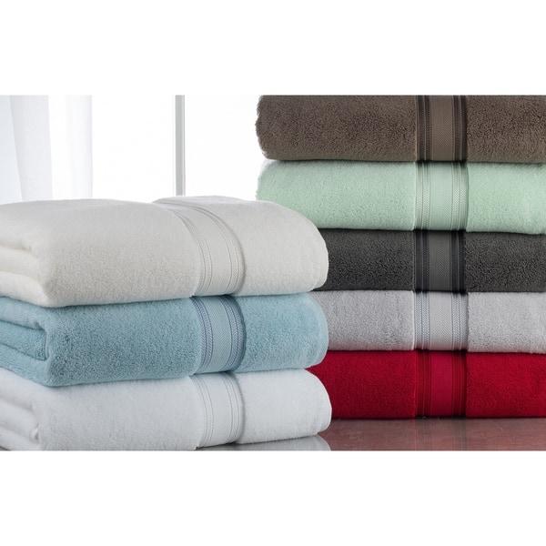 Plush 100 Cotton Zero Twist 6 Piece Towel Set 2 Bath Towels 2 Hand Towels And 2 Washcloths On Sale Overstock 30693528