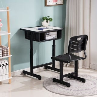 Link to Height Adjustable Childrens Desk and Chair Set Kids Interactive Workstation Similar Items in Kids' & Toddler Furniture