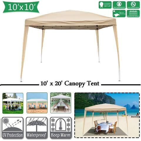 10' x 10' Pop-Up Lightweight Slant Leg Instant Canopy