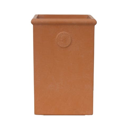 Kante Lightweight Classic Tall Rectangle Planter, Large, 21.3 Inch Tall, Terracota