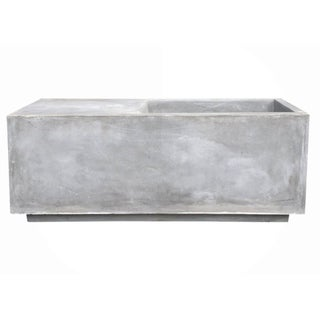 Link to Ambai Natural Lightweight Concrete Square Planter by Havenside Home Similar Items in Planters, Hangers & Stands