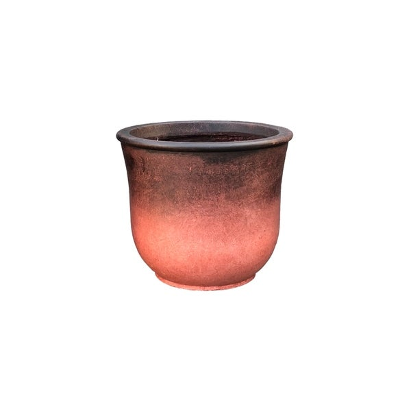 Kante Lightweight Modern Vibrant Ombre Round Planter, Large, 15.7 Inch Tall, Red. Opens flyout.