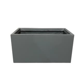 Link to Kante Lightweight Concrete Modern Long Low Outdoor Planter, Small, 23 Inch Long, Charcoal Similar Items in Planters, Hangers & Stands