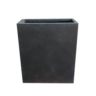 Kante Lightweight Concrete Modern Long & High Rectangle Planter, 26.8 Inch Tall, Charcoal