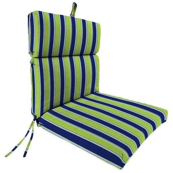 "22"" x 44"" Chair Cushion in Coach Stripe Wasabi"