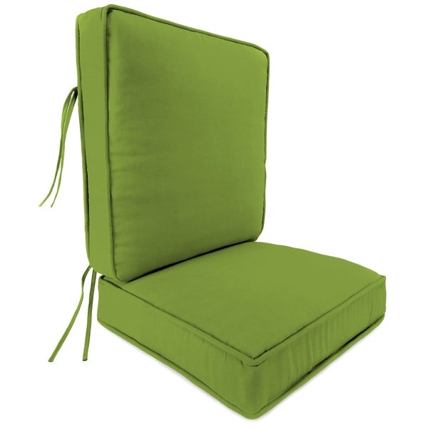 2 Piece Deep Seat Chair Cushion in Solid Apple