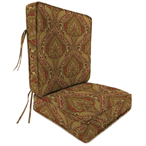 2 Piece Deep Seat Chair Cushion in Grovedale Pompei
