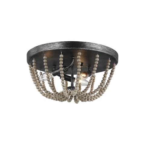 Sea Gull Oglesby 3-light LED Convertible Ceiling Flush Mount