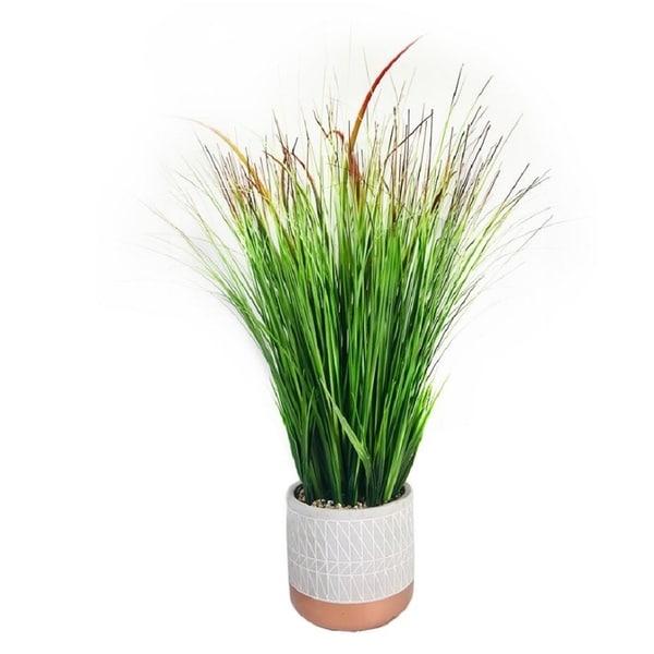 """Onion Grass Pot 25"""". Opens flyout."""