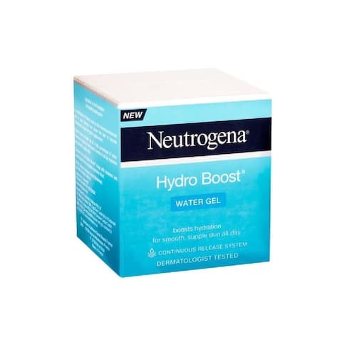 Neutrogena Hydro Boost Water Gel for Normal to Combination Skin with Hyaluronic Gel Matrix Facial Moisturizer, 50 ml (1.7 Oz)