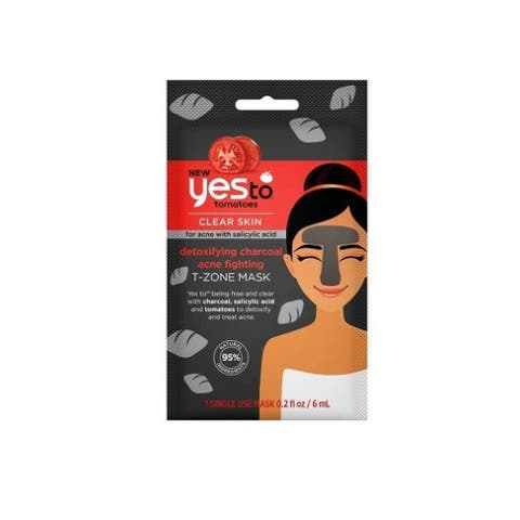 Yes to Tomatoes Clear Skin for Acne with Salicylic Acid Detoxifying Charcoal Acne Fighting T-Zone Mask