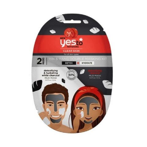 Yes to Tomatoes Clear Skin for All Skin Types, Yin and Yang Double Masking Kit, Detox and Hydrate