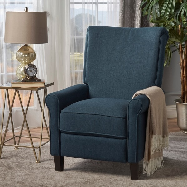 Charell Traditional Fabric Recliner In Wheat by Christopher Knight Home (As Is Item). Opens flyout.