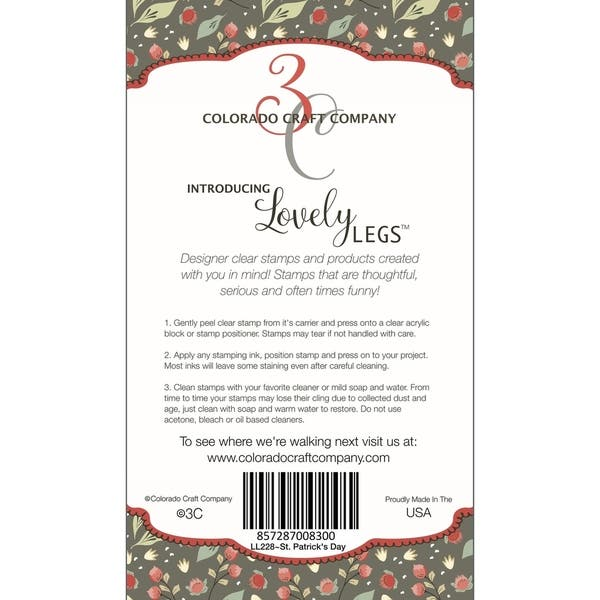 Patricks Day-Lovely Legs St Colorado Craft Company LL228 Colorado Clear Stamp