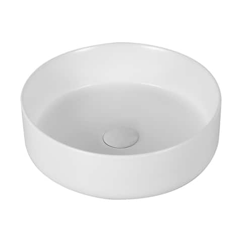 "CB HOME 14"" Modern Ceramic Basin Round Vessel Above Counter Sink"