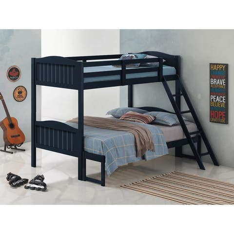 Taylor & Olive Mayapple Rubberwood Twin-over-Full Bunk Bed