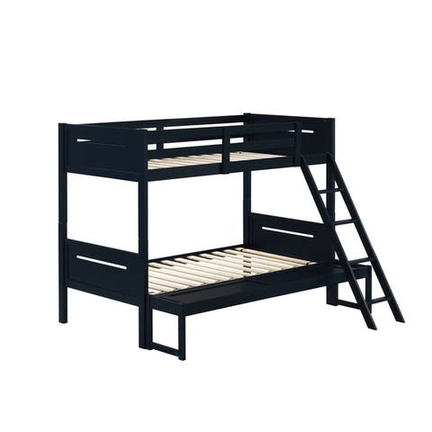 Taylor & Olive Claytonia Rubberwood Twin-over-Full Bunk Bed