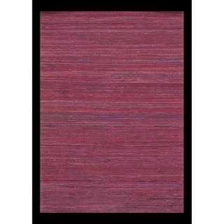 Pasargad Purple Red Sari-Silk Modern Flat Weave Rug - 2' X 3' - 2' x 3'