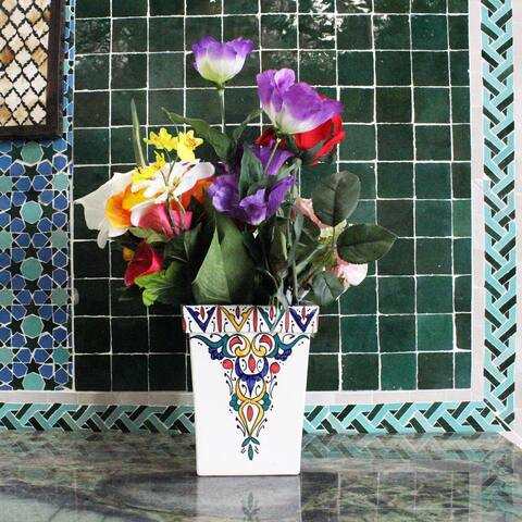 Handmade Moroccan Vase with Vivid colors