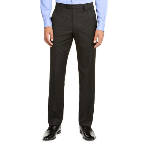 Men Dress Pant Pinstripe Flat Front Classic Fit