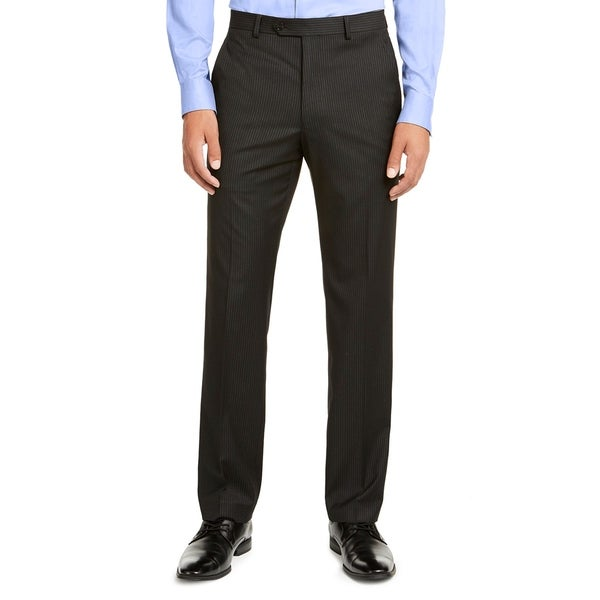 Men Dress Pant Pinstripe Flat Front Classic Fit. Opens flyout.