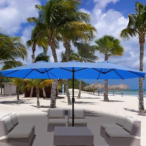 Morigio 15x9-foot Rectangular Outdoor Patio Umbrella by Havenside Home