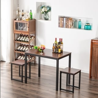 Porch and Den  Anthem 3-piece Counter Height Pub Table Set (Walnut)
