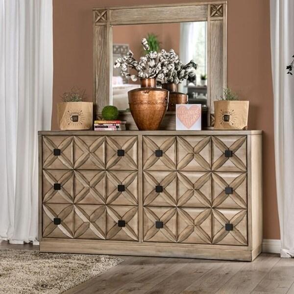 6-Drawer Dresser, Weathered Light Oak
